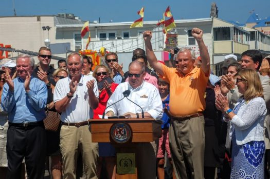 Md. Governor Larry Hogan announcing last summer that schools will start after Labor Day.