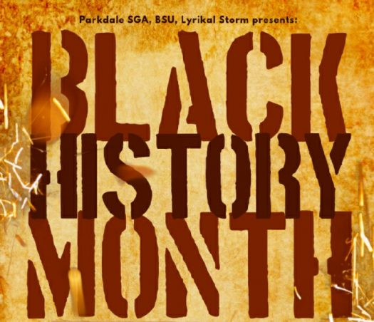 The Flyer for the celebration of Black History Month