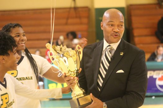 Lady Panthers' head coach attributes his success to the strength of the players.