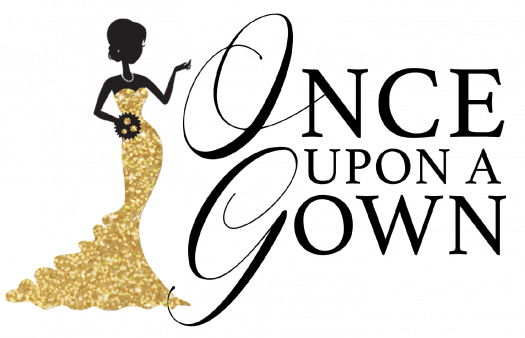 "The logo of the non-profit organization ""Once upon a Gown"""