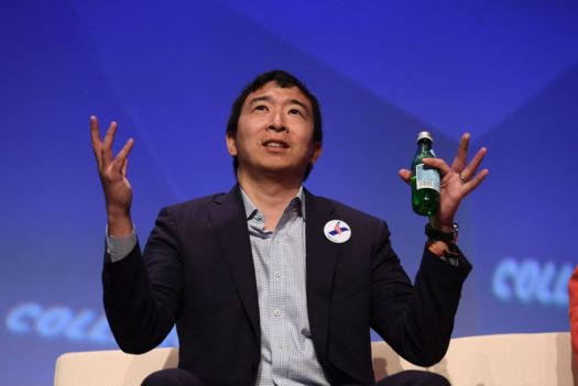 Yang being blessed with wisdom to lead the U.S. into a more promising tomorrow.