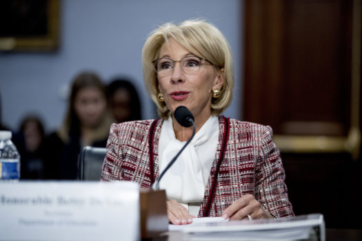 Secretary Devos proposing the SpEd cuts to Congress in March