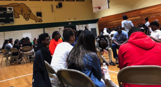 Students gather to get more information about mental health