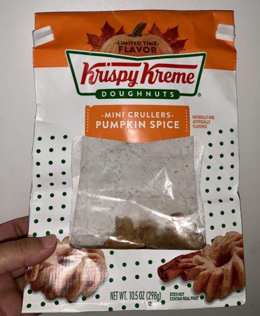 Krispy Kreme crullers so good, I had to finish the whole bag.