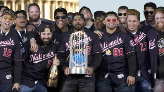Nationals celebrate their championship at a parade in D.C.