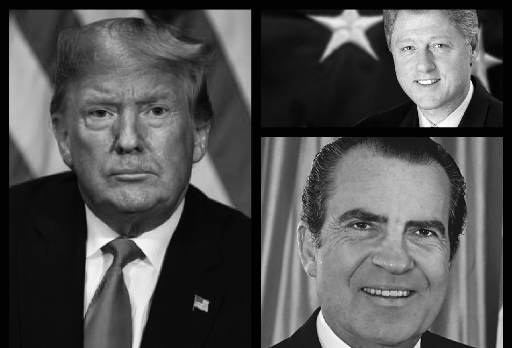 Presidents Trump, Clinton and Nixon all faced impeachment allegations.