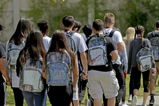 Districts around the country have turned to clear backpacks.