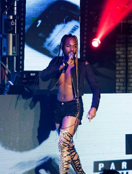 HYM the Rapper slays the stage in stilettos