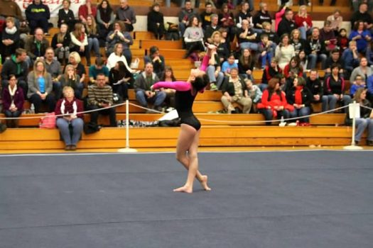 Jolie LaBarge at a gymnastics competition